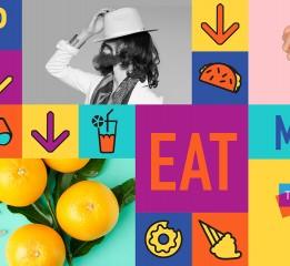纽约Turnstyle美食广场 视觉系统设计