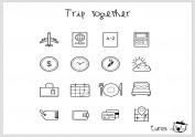 旅行icon组合