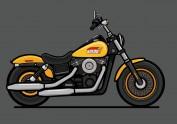 摩托车临摹作业
