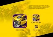 全矢量绘制大黄蜂icon