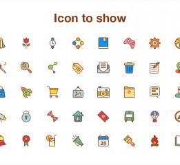 卡通移动端icon设计