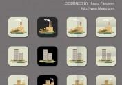 从一杂志插图中获取的元素绘制成的ic