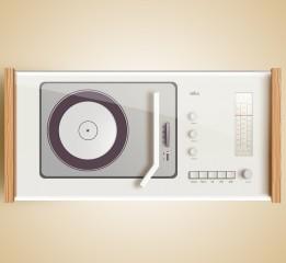 鼠绘德国博朗的一款工业产品:收音机