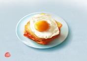 写实图标练习之鸡蛋三明治