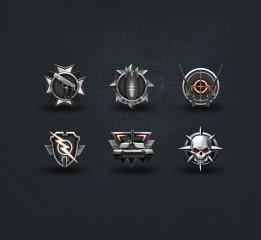 绘制6枚军用图标