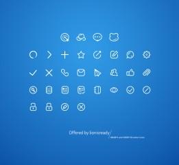 手机简历 ios 风格图标一套