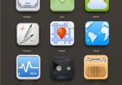 拟物化一组手机图标