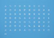 档案系统线框图标