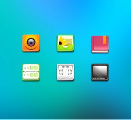 icon~照相机、相册、电子书、课程表