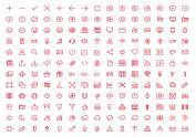 180枚ios7简约风格图标(AI和SVG)