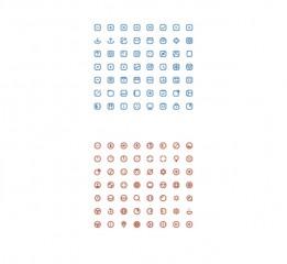 16 pixel cute icons(Ai源文件分享