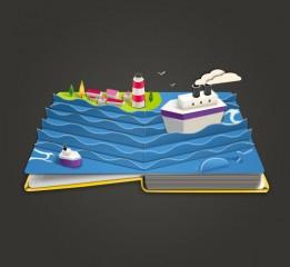 海洋卡通图书图标