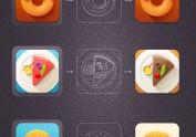 美味icon临摹(+共享psd文件)