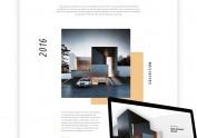 极简风格 别墅设计网站