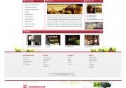 网站首页 web设计  红酒  网页设计