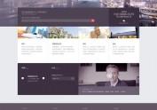 简洁商务科技类型网页设计