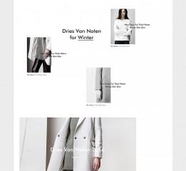 一款女装品牌首页LM