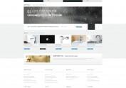 网页设计排版练习—黑白厨卫