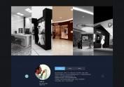 企业官网 室内装修网站 ICONS 风格