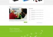 卓毅科技电池网站设计 企业网站