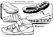 一组运动鞋设计手绘(高清、无码、无