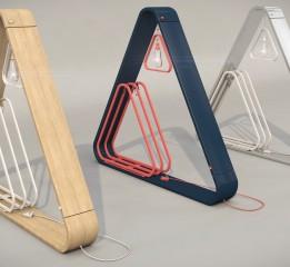 创意床头三角灯