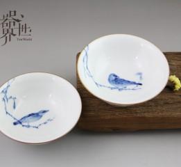 器世界精品茶具原创手绘陶瓷双杯闲来观赏它的古朴清雅,心情如此恬静愉悦……