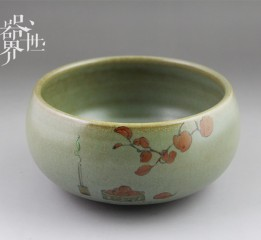 器世界原创手工精品彩绘陶瓷茶洗爱生活爱手工爱原创