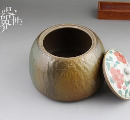 器世界精品茶具原创手绘粗陶茶叶罐艺术无处不在