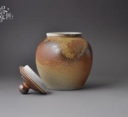 器世界原创手工柴烧茶叶罐精品茶具