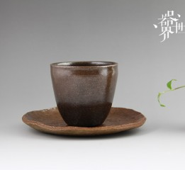 器世界原创精品茶具纯手工粗陶茶托
