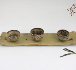 器世界原创手工精品粗陶茶具来自春天的那一抹绿