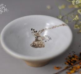 器世界原創精品手繪陶瓷茶具清新小盞系列