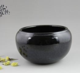 器世界精品茶具霽藍釉茶洗花器
