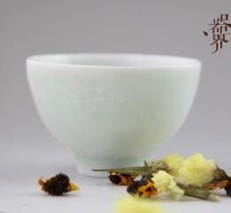 """器世界精品茶具原创手工""""影青""""茶杯"""