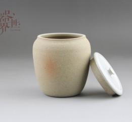 器世界精品茶具手工原創孤品粗陶茶葉罐