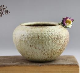 器世界精品茶具原創手工粗陶花器水洗