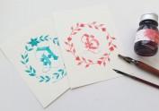 彩墨A~Z紙膠帶、明信片、圓貼