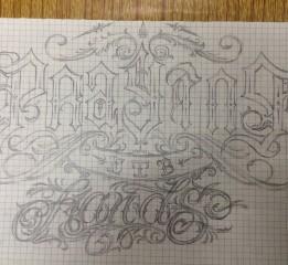 奇卡诺字体设计练习