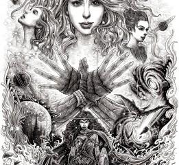 《神奇女侠》手绘作品