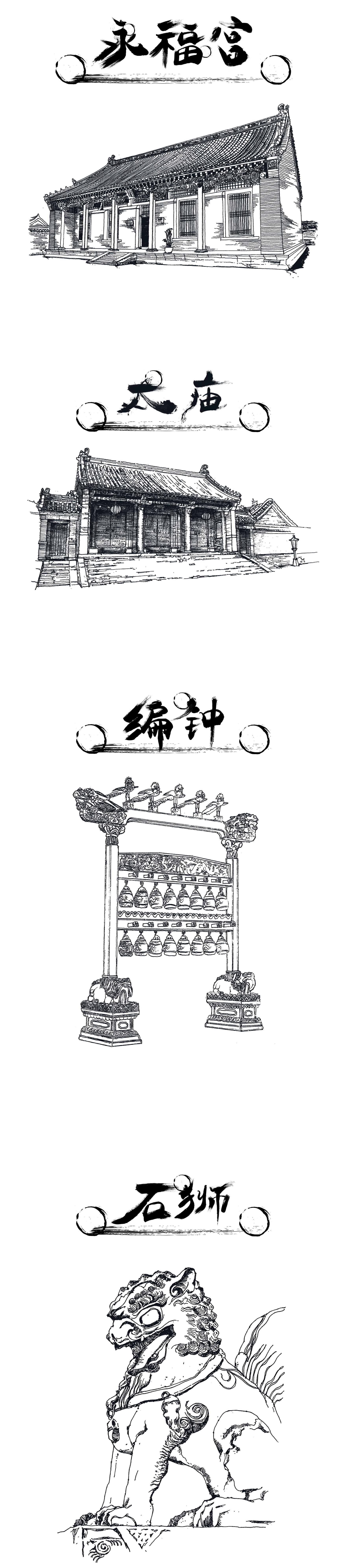 國之重器——沈陽故宮手繪明信片設計