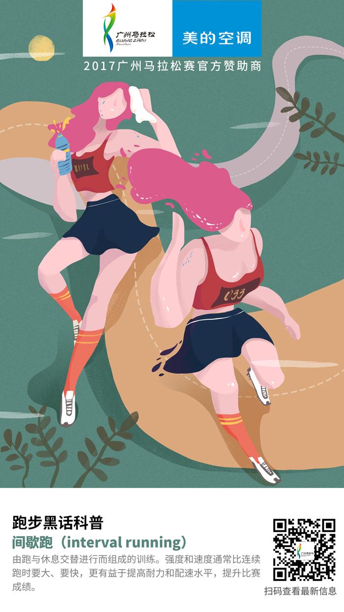广州马拉松跑圈话海报
