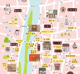 长沙咖啡街区x手绘地图