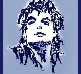 一张由42个迈克尔·杰克逊组成的肖像