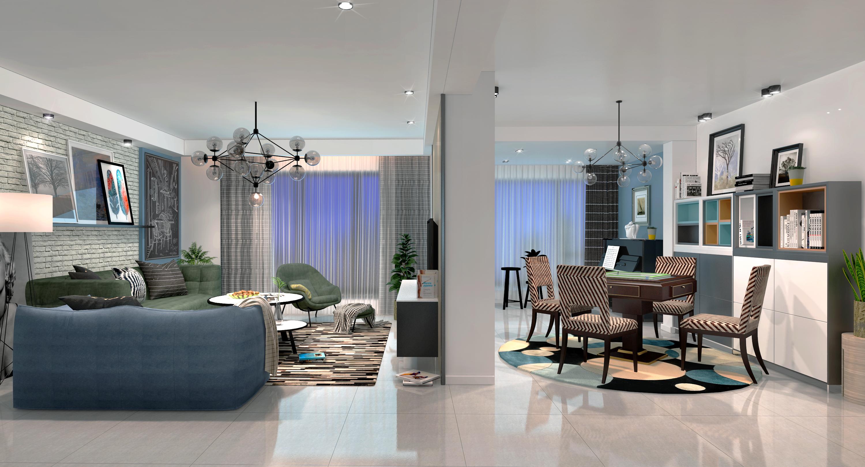 北欧客厅-室内设计-空间-设计作品-中国设计之窗