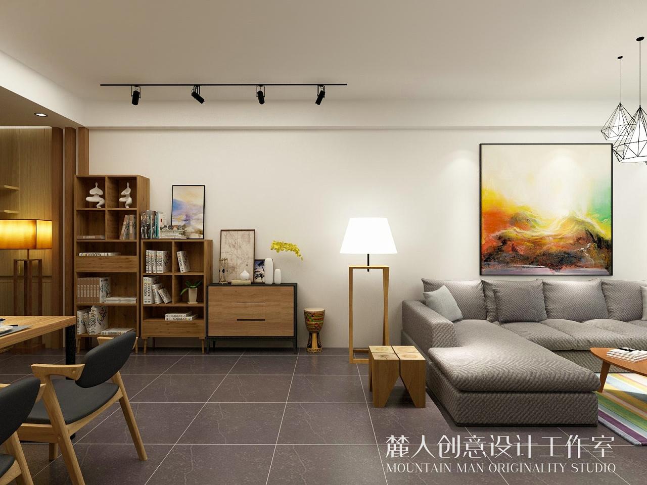 北欧 现代简约风三室一厅-室内设计-空间-设计作品