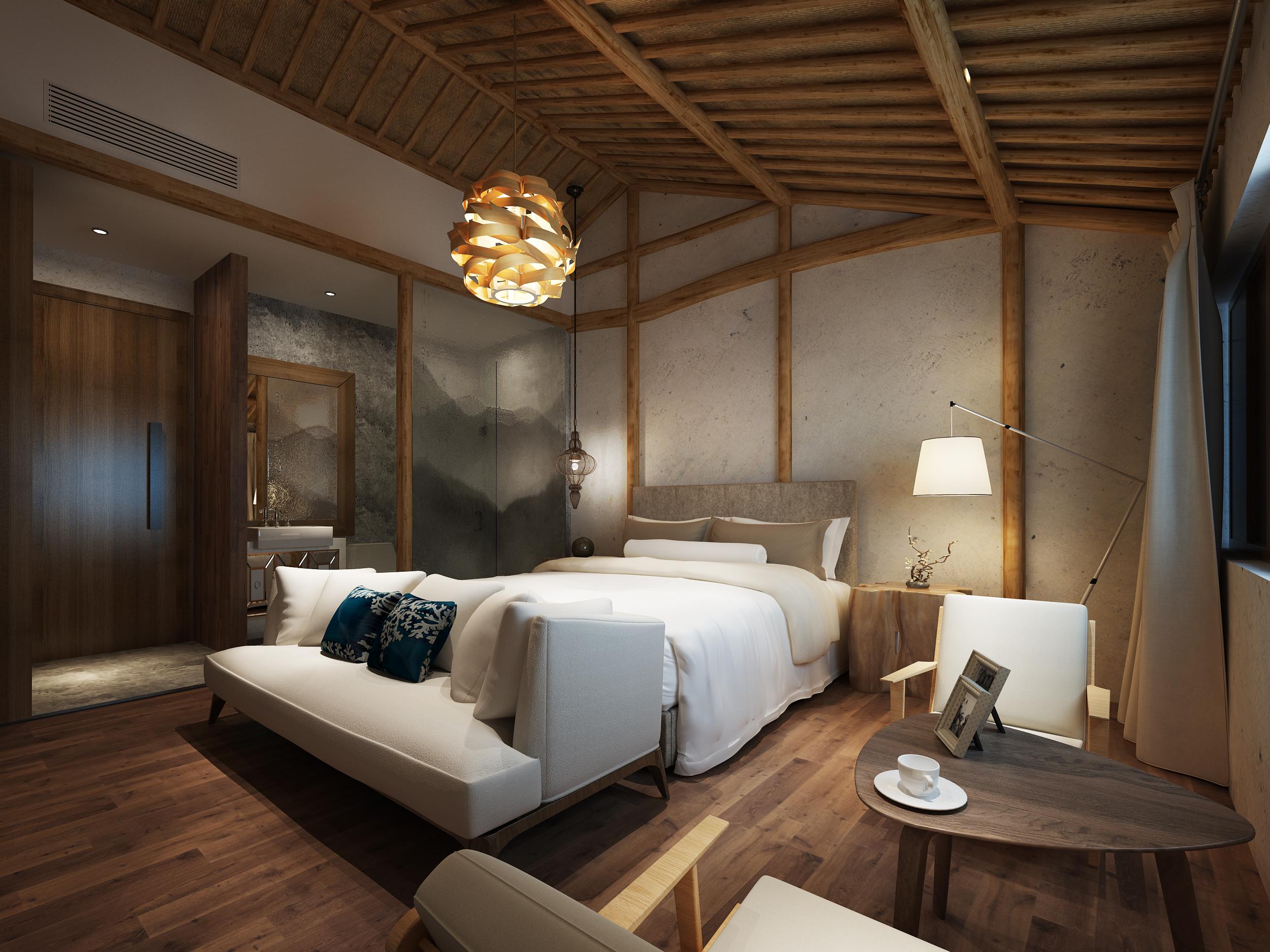 民宿效果表现-室内设计-空间-设计作品-中国设计之窗