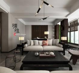禅·雅 新中式客厅设计