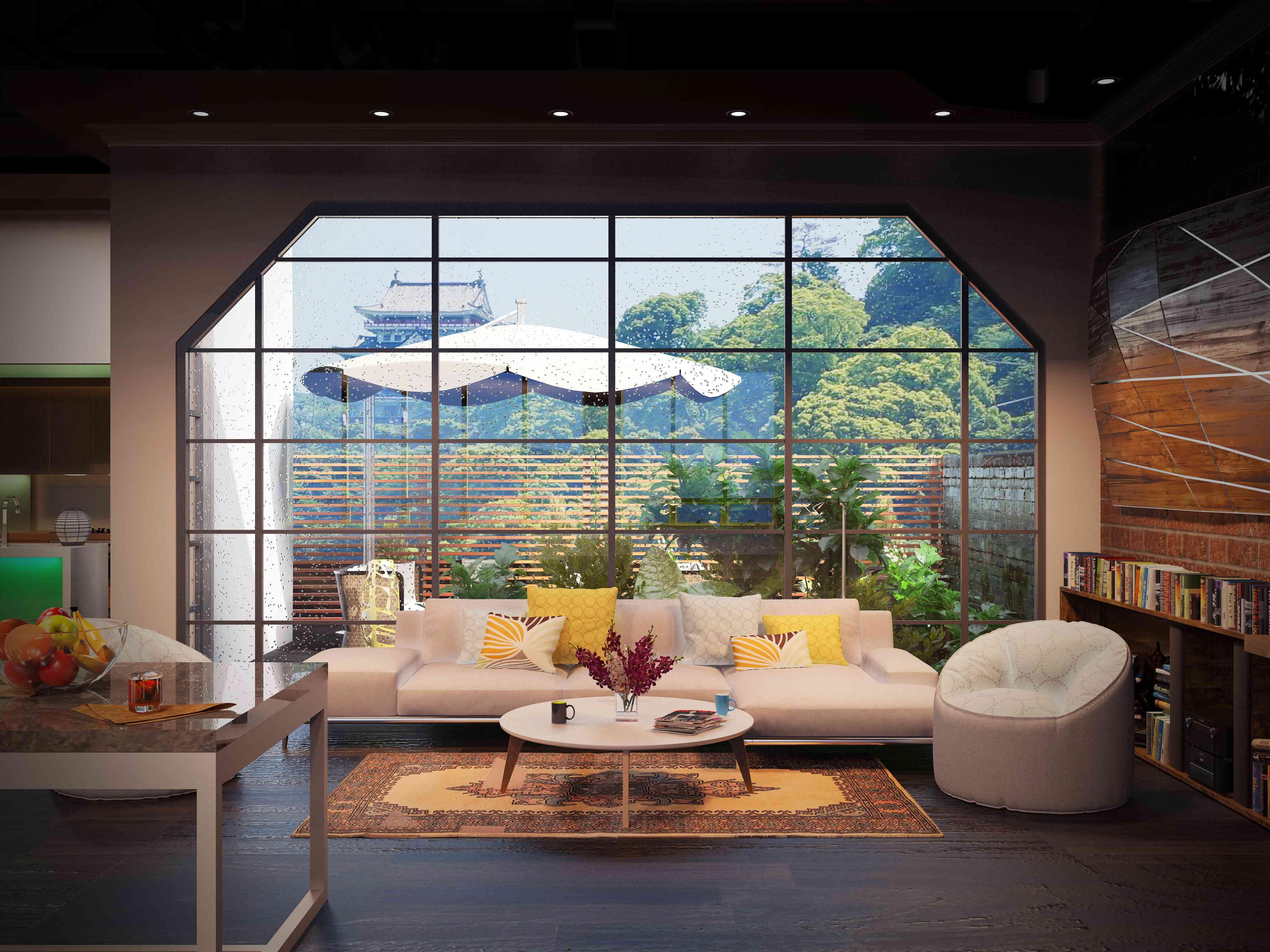室内毕业作品-越古典融现代茶馆-室内设计-空间-设计