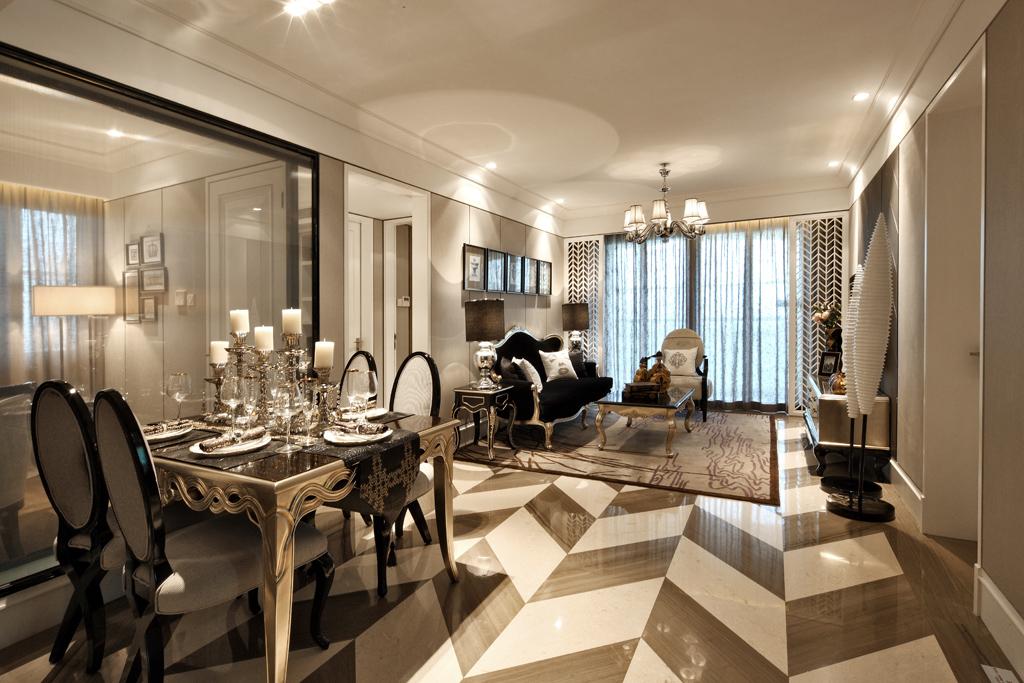 黑白灰造就古典情怀 新欧式样板房设计